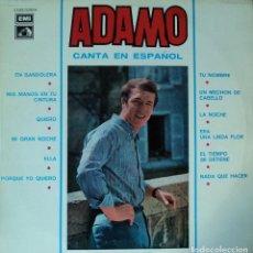 Discos de vinilo: ADAMO - CANTA EN ESPAÑOL - EDICIÓN DE 1966 DE ESPAÑA. Lote 98238391
