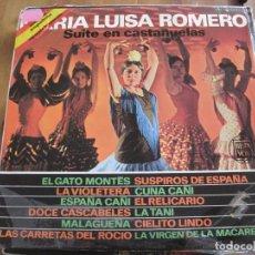Discos de vinilo: MARÍA LUISA ROMERO - SUITE EN CASTAÑUELAS (1963) - LP HISPAVOX 1970. Lote 98342235
