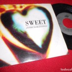 Discos de vinilo: SWEET ¿DONDE DIABLOS ESTAS? 7'' 1990 ARIOLA DOBLE CARA SPAIN HIP HOP RAP NACIONAL. Lote 98347647