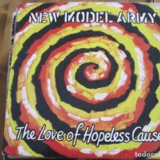 Discos de vinilo: NEW MODEL ARMY - THE LOVE OF HOPELESS CAUSES - LP EPIC UK 1993. Lote 98351303