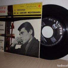 Discos de vinilo: TOTO MORA DUDAS - 5 FESTIVAL DE LA CANCION MEDITERRANEA -RCA-EP DE 4 CANCIONES -1963-MADRID. Lote 98353043