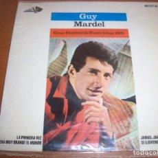 Discos de vinilo: EPS DE GUY MARDEL, GRAN FESTIVAL DE EUROVISION 1965. EDICION HISPAVOX. D. . Lote 98358683