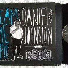 Discos de vinilo: DANIEL JOHNSTON AND BEAM - '' BEAM ME UP! '' LP 2010 NETHERLANDS. Lote 98359327