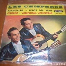 Discos de vinilo: EPS DE LES CHISPEROS. ATAHUALPA + 3. EDICION DISQUES POP (FRANCIA). D.. Lote 98361415