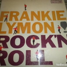 Discos de vinilo: FRANKIE LYMON - ROCK N ROLL LP - ORIGINAL U.S.A. - ROULETTE RECORDS 1958 - MONO-FUNDA INT. ORIGINAL. Lote 98366335