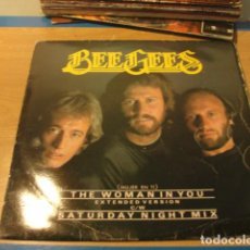 Discos de vinilo: LOTE MAXI THE BEE GEES THE WOMAN IN YOU SELLO RSO 1983....SALIDA 1 EURO. Lote 98369307
