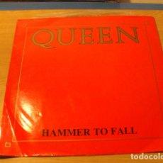 Discos de vinilo: LOTE LP QUEEN HAMMER TO FALL SELLO EMI 1984 ED UK.....SALIDA 1 EURO . Lote 98370571
