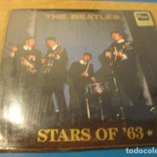 Discos de vinilo: LOTE LP THE BEATLES STARS OF 1963 SELLO SWINGIN PIG VINILO AZUL TRANPARENTE...,MUY RARO..SALIDA 1 EU. Lote 98371307
