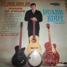 Discos de vinilo: DUANE EDDY 1,000,000.00 WORTH OF TWANG LP - ORIGINAL U.S.A. - JAMIE RECORDS 1960 - MONOAURAL -. Lote 98389051