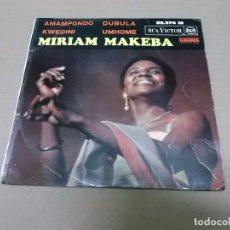Discos de vinilo: MIRIAM MAKEBA (EP) AMAMPONDO AÑO 1964 – EDICION FRANCIA. Lote 98396207
