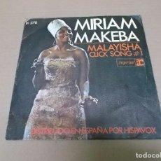 Discos de vinilo: MIRIAM MAKEBA (SN) MALAYISHA AÑO 1968. Lote 98396603