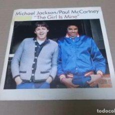 Discos de vinilo: MICHAEL JACKSON & PAUL MCCARTNEY (SN) THE GIRL IS MINE AÑO 1982 - PROMOCIONAL. Lote 98397087