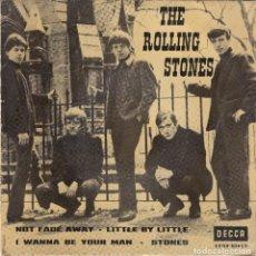 Discos de vinilo: THE ROLLING STONES - NOT FADE AWAY E.P. (1963) DECCA. Lote 98404187