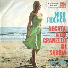Discos de vinilo: NICO FIDENCO, LEGATA A UN GRANELLO DI SABBIA + 3, EP (1961). Lote 98410163