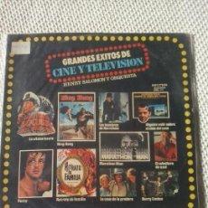 Discos de vinilo: HENRY SALOMON Y SU ORQUESTA - GRANDES ÉXITOS DE CINE Y TELEVISIÓN - BELTER LP. Lote 98426599