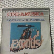 Discos de vinilo: EXODUS - LAS PELICULAS DE PREMINGER - CINE & MÚSICA SALVAT LP. Lote 98426759