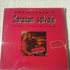 Discos de vinilo: DAVID LYNCH'S CORAZÓN SALVAJE ''WILD AT HEART''. Lote 98427007