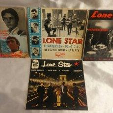Discos de vinilo: LONE STAR SP LOTE DE 4 COMPRENSION, CIERRA LOS OJOS, SATISFACCION Y NUESTRA GENERACION. Lote 98427184