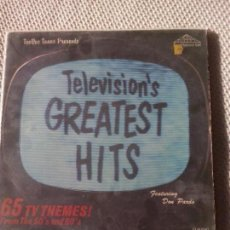 Discos de vinilo: VARIOUS - TELEVISION'S GREATEST HITS (65 TV THEMES! FROM THE 50'S AND 60'S) TEMAS ORIGINALES 2LP. Lote 98428675