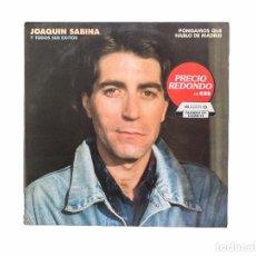 Discos de vinilo: LP. TODOS SUS ÉXITOS: PONGAMOS QUE HABLO DE MADRID. JOAQUÍN SABINA. (VG/VG+). Lote 98438215