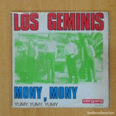 Discos de vinilo: LOS GEMINIS - MONY, MONY / YUMY, YUMY, YUMY - SINGLE. Lote 98479382