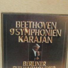 Discos de vinilo: BEETHOVEN 9 SYMPHONIEN KARAJAN. BERLINER PHILARMONIKER. 8 LP'S (1977). Lote 98487375