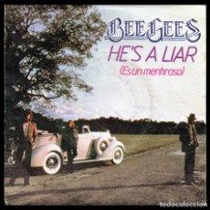 Discos de vinilo: BEE GEES, HES A LIAR Y DEMAS.. Lote 98489939