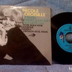 Discos de vinilo: NICOLE CROISILLE CANTA - VIVIR PARA VIVIR + 3 EP ED. ESPAÑOLA DE 1967 - NUEVO. Lote 98495891