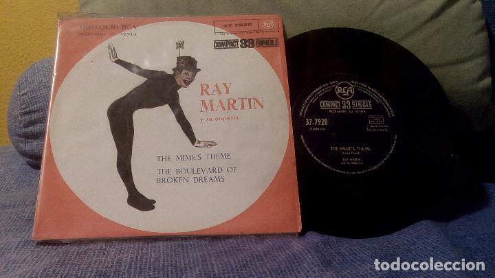 RAY MARTIN Y SU ORQUESTA - THE MIME'S THEME + 1 EDICIÓN ESPAÑOLA DE 1961 - PROMOCIONAL (Música - Discos - Singles Vinilo - Jazz, Jazz-Rock, Blues y R&B)