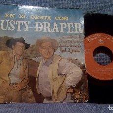 Discos de vinilo: EP - EN EL OESTE CON RUSTY DRAPER - LA ROSA AMARILLA DE TEXAS + 3 MERCURY DE 1960 ED. ESPAÑOLA. Lote 98503507