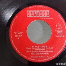 Discos de vinilo: VINILO 7 PULGADAS VICTOR MANUEL AÑO 1970. Lote 98505043