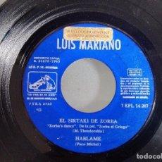 Discos de vinilo: LUIS MARIANO VINILO 7 PULGADAS . Lote 98506967