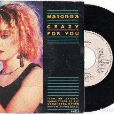 Discos de vinilo: SINGLE MADONNA - CRAZY FOR YOU - GEFFEN RECORDS 1985. Lote 98531075