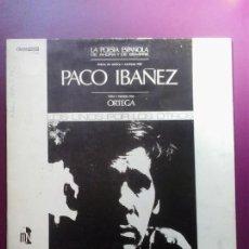 Discos de vinilo: PACO IBAÑEZ - LA POESIA ESPAÑOLA DE AHORA Y DE SIEMPRE LP 1968. Lote 98529567