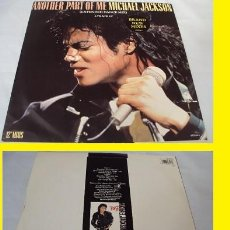 Discos de vinilo: MICHAEL JACKSON - ANOTHER PART OF ME 1987 - 4 TEMAS, RARA 1ª EDIC. ORIG. UK !! EXC. Lote 98547583