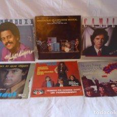 Discos de vinilo - * Lote 6 disco single o EP, variados. ZX - 98549775