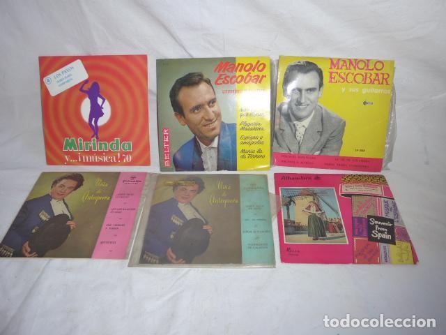 * LOTE 6 DISCO SINGLE O EP, VARIADOS. ZX (Música - Discos de Vinilo - EPs - Grupos Españoles 50 y 60)