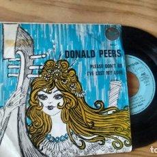 Discos de vinilo: SINGLE (VINILO) DE DONALD PEERS AÑOS 60. Lote 98562587
