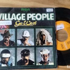 Discos de vinilo: SINGLE (VINILO) DE VILLAGE PEOPLE AÑOS 70. Lote 98563603