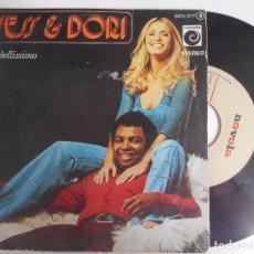Discos de vinilo: SINGLE DE WESS & DORI AMORE BELLISSIMO. Lote 98564267