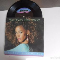 Discos de vinilo: SINGLE DE WHITNEY HOUSTON GREATEST LOVE OF ALL. Lote 98564495