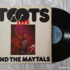 Discos de vinilo: TOOTS AND THE MAYTALS, LIVE (ISLAND ARIOLA) LP ESPAÑA - ENCARTE. Lote 98571439