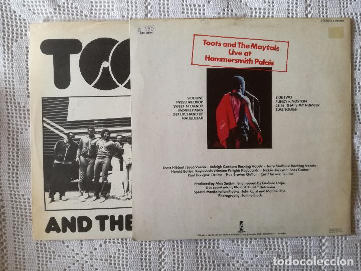 Discos de vinilo: TOOTS AND THE MAYTALS, LIVE (ISLAND ARIOLA) LP ESPAÑA - ENCARTE - Foto 2 - 98571439