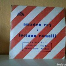 Discos de vinilo: AMADEO REY Y LUCIANO RAMALLI : PERLA DEL BRASIL - ADIOS MÉJICO - CHA CHA CHA DEL RATÓN - MORSE MAMBO. Lote 98502411