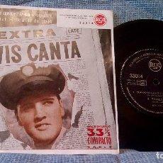 Discos de vinilo: ELVIS PRESLEY - EXTRA ELVIS CANTA - EP 4 TEMAS -SELLO RCA ED. ESPAÑOLA AÑO 1959 - COMO NUEVO. Lote 98580719