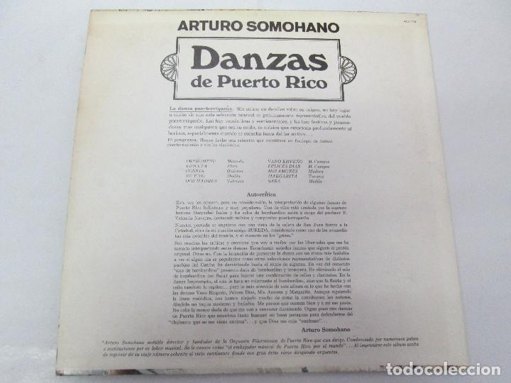 Discos de vinilo: DANZAS DE PUERTO RICO. ARTURO SOMOHANO. LP VINILO. VER FOTOGRAFIAS ADJUNTAS - Foto 7 - 98586915