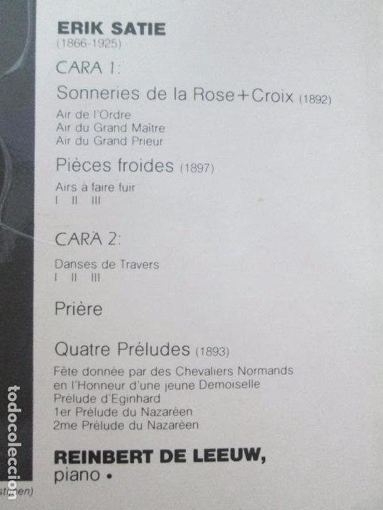 Discos de vinilo: ERIK SATIE VOL 3. OEUVRES DE JEUNESSE POUR PIANO REINBERT DE LEEUW, PIANO. LP VINILO. PHILIPS 1981 - Foto 8 - 98588847