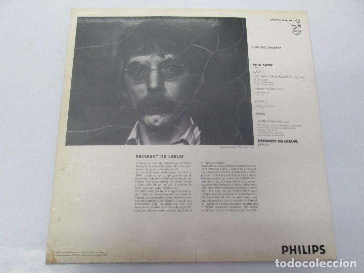 Discos de vinilo: ERIK SATIE VOL 3. OEUVRES DE JEUNESSE POUR PIANO REINBERT DE LEEUW, PIANO. LP VINILO. PHILIPS 1981 - Foto 9 - 98588847