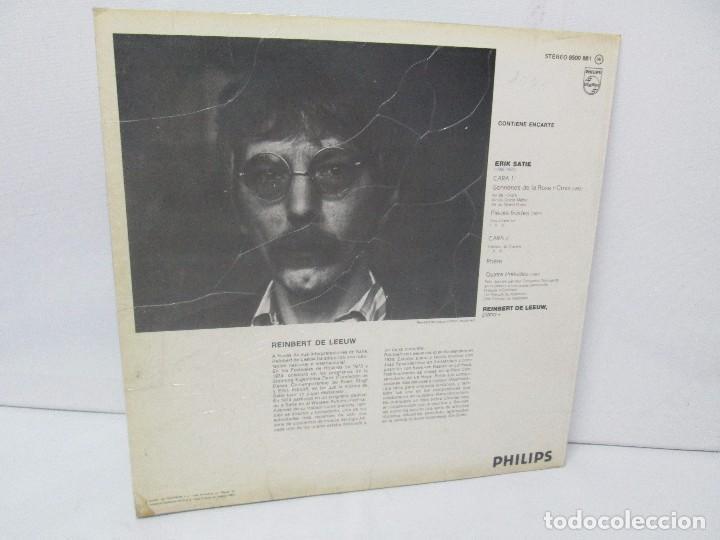 Discos de vinilo: ERIK SATIE VOL 3. OEUVRES DE JEUNESSE POUR PIANO REINBERT DE LEEUW, PIANO. LP VINILO. PHILIPS 1981 - Foto 10 - 98588847
