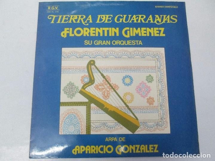 Discos de vinilo: TIERRA DE GUARANIAS. FLORENTIN GIMENEZ SU GRAN ORQUESTA. ARPA DE APARICIO GONZALEZ. LP VINILO 1979 - Foto 2 - 98589195